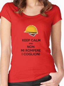 KEEP CALM AND DONT BREAK MY BALLS Women's Fitted Scoop T-Shirt