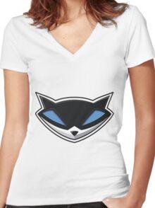 SlyCooper Women's Fitted V-Neck T-Shirt