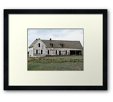 Old empty house Framed Print