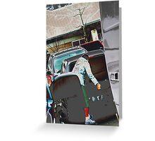 supermarket parkinglot 2 Greeting Card