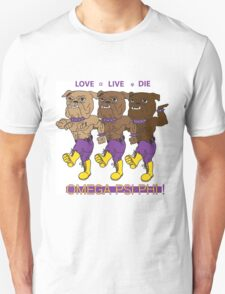 Omega Psi Phi - Love Live Die Dogs T-Shirt