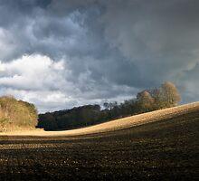 Winter field, showers by Gary Eason + Flight Artworks