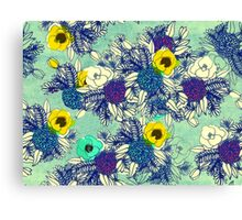 Botanical Blues ligth Canvas Print