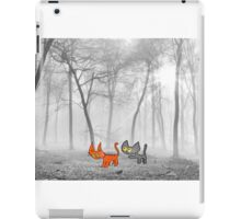 Two Cats Have Fun In The Winter iPad Case/Skin