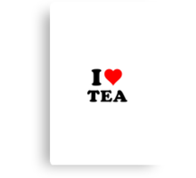 I love tea! Canvas Print