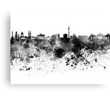 Berlin skyline in black watercolor Canvas Print