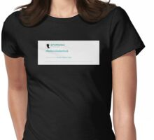 #believeinsherlock Womens Fitted T-Shirt