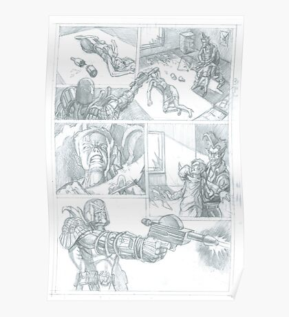 Judge Dredd submission pencilled Poster