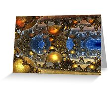 Caves Of Gold Greeting Card
