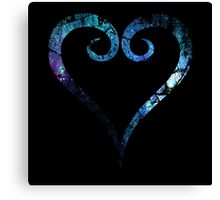 Kingdom Hearts Heart grunge universe Canvas Print