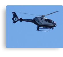 Police Helicopter Canvas Print