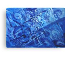 Composition in the Key of d minor. Canvas Print
