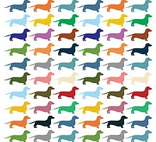Dachshunds pattern by opul