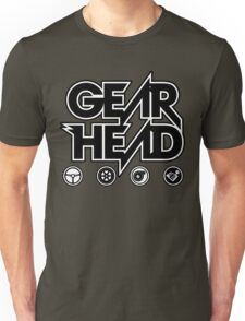 Gear Head (White Outline) T-Shirt