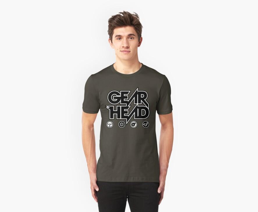 Gear Head (White Outline) by finalgear
