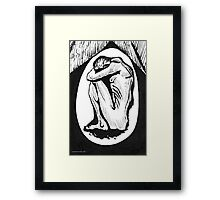 The Nightmare or Crouching Male Figure Framed Print