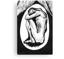 The Nightmare or Crouching Male Figure Canvas Print