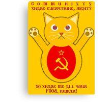 Comrade cat Canvas Print
