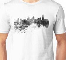 Cincinnati skyline in black watercolor Unisex T-Shirt