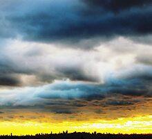Rolling clouds, New York City by Alberto  DeJesus