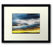 Rolling clouds, New York City Framed Print