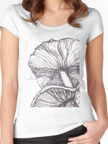 Fungi gills Women's Fitted Scoop T-Shirt