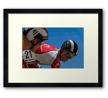 Matthew Glaetzer - Mens Sprint Framed Print
