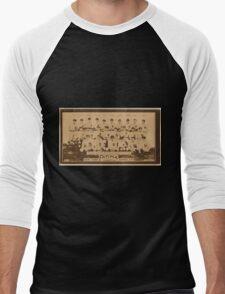 Benjamin K Edwards Collection New York Yankees baseball card portrait Men's Baseball ¾ T-Shirt