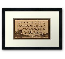 Benjamin K Edwards Collection New York Yankees baseball card portrait Framed Print