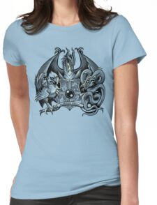 Guardian Forces - Monochrome Womens Fitted T-Shirt