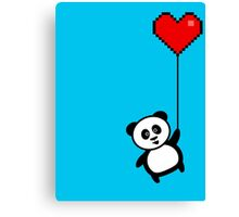 Up the panda goes Canvas Print