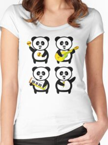 Band of pandas Women's Fitted Scoop T-Shirt