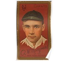 Benjamin K Edwards Collection Richard Marquard New York Giants baseball card portrait 001 Poster