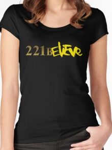 221BELIEVE Women's Fitted Scoop T-Shirt