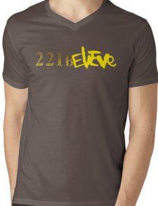 221BELIEVE Mens V-Neck T-Shirt