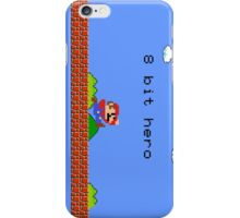 8 bit hero mario iPhone Case/Skin