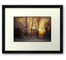 Once Upon a Winter Morning.. Framed Print