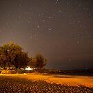 Stars at Night on the Maui Beach by aMillionWordsCa