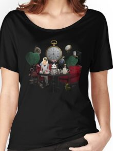 Alice In Wonderland Collage Women's Relaxed Fit T-Shirt