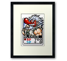 Mr. Karate Framed Print
