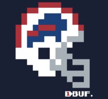 Tecmo Bowl - Buffalo Bills - 8-bit - Current Helmet shirt (RED HELMET available on Etsy -- see notes) One Piece - Long Sleeve