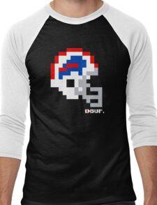 Tecmo Bowl -  Buffalo - 8-bit - Current Helmet shirt (RED HELMET also) Men's Baseball ¾ T-Shirt
