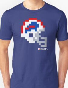 Tecmo Bowl - Buffalo Bills - 8-bit - Current Helmet shirt (RED HELMET available on Etsy -- see notes) Unisex T-Shirt