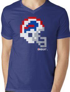Tecmo Bowl -  Buffalo - 8-bit - Current Helmet shirt (RED HELMET also) Mens V-Neck T-Shirt