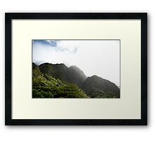 Mist in the Mountains of Maui Framed Print