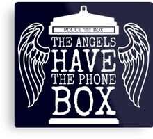 Angels Have The Phone Box Metal Print