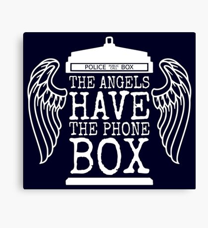 Angels Have The Phone Box Canvas Print