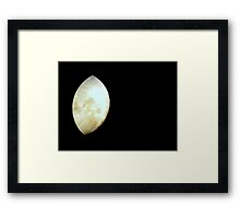 The Moving Moon Framed Print