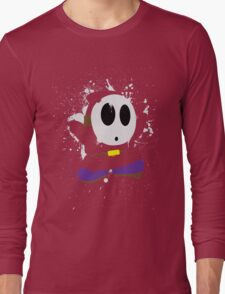 Splattery Shy Guy Style 1 Long Sleeve T-Shirt