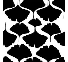 Ginkgo leaves seamless pattern Photographic Print